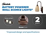 Westek Battery Operated Wall Sconce, 2 Pack – 100