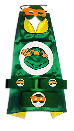 [MyTinyHeroes Children's Superhero Costume - 5 Pc Set - Teenage Mutant Ninja Turtles - Michelangelo] (Party City Toddler Girl Halloween Costumes)