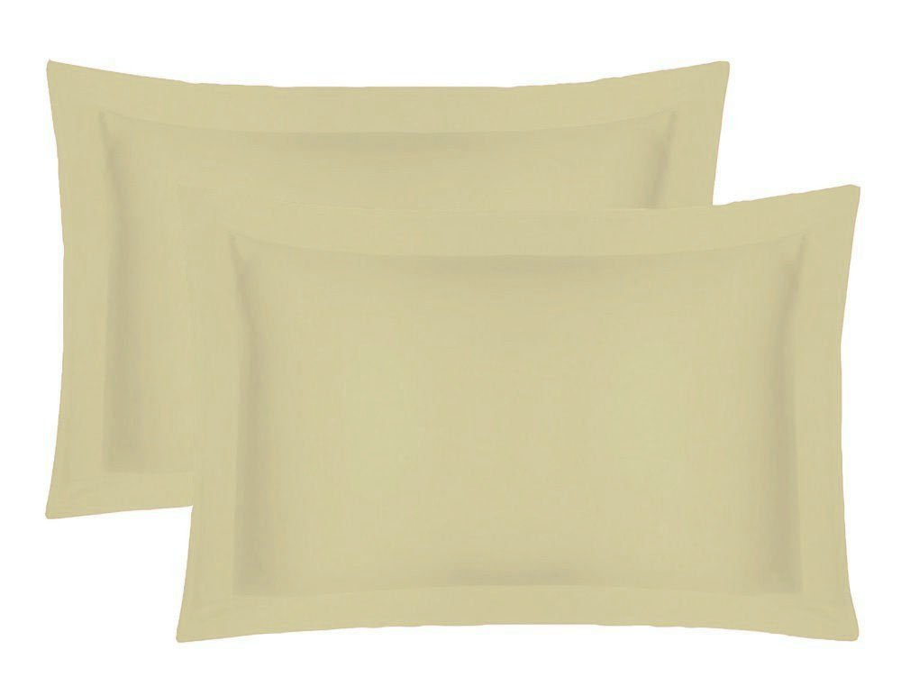 SOFTOUCH PAIR OF PILLOW CASES 400 THREAD COUNT SET 65CMX65CM-CREAM
