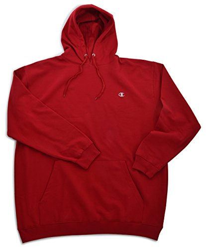 Champion Big & Tall Mens Fleece Pullover Hoodie, Cardinal Red/Cardinal Red, 3XLT