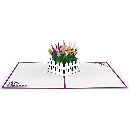 Flower Garden 3D pop up greeting card