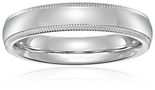 Standard Comfort Fit 14K Gold Milgrain Wedding Band, 4mm