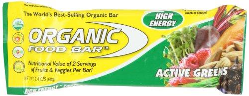Organic Food Bar Active Greens 12 Bar(S)