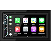 Dual DAC1025BT 6.2 LED Backlit LCD Digital Multimedia Touch Screen Double DIN Car Stereo with Built-In Apple CarPlay, Bluetooth & USB Port