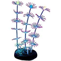 Balacoo Coral Ornament Decorative Fluorescent Landscape Artificial Plant Fish Tank Aquarium Red