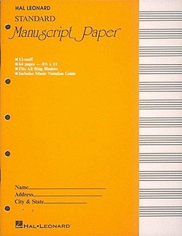 Standard Manuscript Paper ( Yellow Cover) (Manuscript Paper)