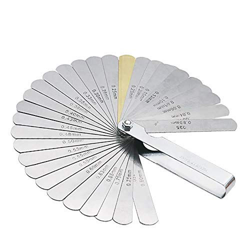 Mouchao 32PCS Blades Universal Thickness Gage Set Metric Guage Stainless Steel Feeler