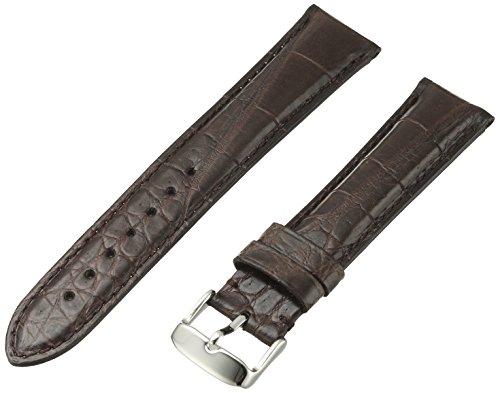 Hadley-Roma Men's MSM824RB-200 20-mm Brown Genuine Alligator Leather Watch - Brown Strap Alligator Genuine Watch