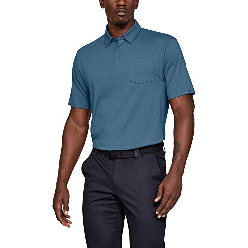 Under Armour mens Charged Cotton Scramble Golf Polo, Thunder (407)/Thunder, X-Large