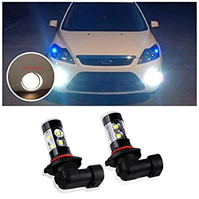 Dantoo 2pcs Extremely Bright H10 9145 9140 LED Fog Light Bulbs 6000K 10 SMD LED Fog Light Lamp Replacement For Fog Lights or DRL, Xenon White: Automotive