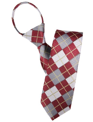 H2H Mens Comfortable Zipper Various Patterned Neck Tie