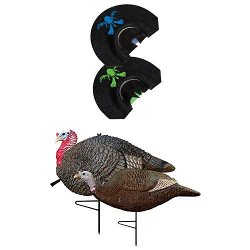 Primos Hunting Hook Hunter Turkey Mouth Call (Pack of 2) and Gobstopper Jake & Hen Decoy Combo by Primos Hunting