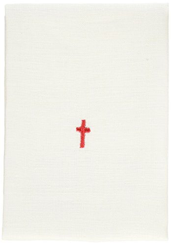 - White 100% Cotton Alter Linen with Embroidered Red Cross 18