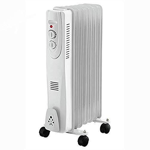 Calentador Calefactor Aceite Termostato Ajustable 3 Niveles Hogar Oficina Blanco