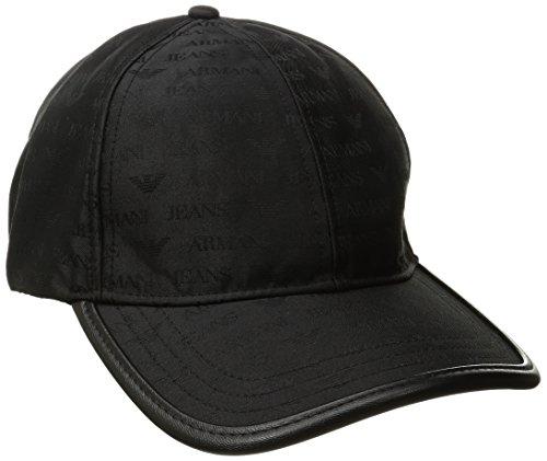 Armani Exchange Men's All Over Logo Hat, Black, One - Armani Exchange Black Hat