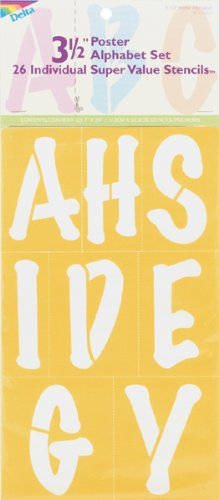Delta Creative Letters Stencil, 7 by 20-Inch, 971070720 3-1/2-Inch Poster Alphabet