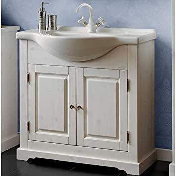 Jadella Meuble sous lavabo \'Romeo W\' 85 cm Bois Massif ...