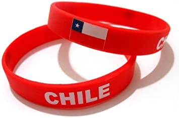 AccessCube Unisex País Bandera Nacional de Silicona Pulsera de Goma de Moda Pulsera Brazalete (Chile): Amazon.es: Deportes y aire libre