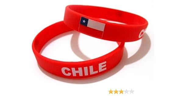 Unisex de bandera de pulsera de goma de silicona país mtong muñequera barrar Chile: Amazon.es: Deportes y aire libre