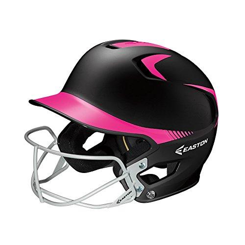 Easton Junior Z5 2Tone Batters Helmet with SB Mask, Black/Pink