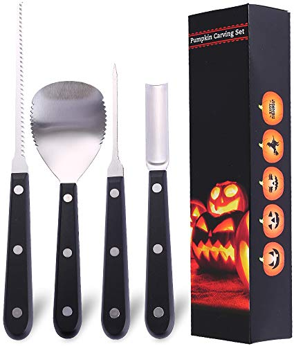 Halloween Pumpkin Carving Kit Set, Jack O Lantern Pumpkin Carving Tools for Adult and Child by WUJOMZ
