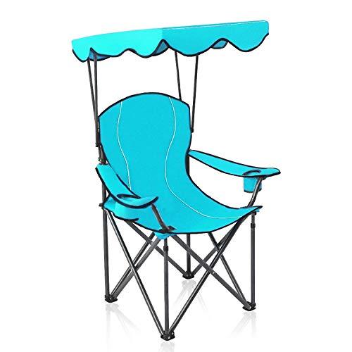 ALPHA CAMP Sun Shade Canopy Chair Support 250 LBS - Sky Blue
