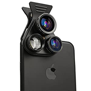 Cell Phone Camera Lens - WingYeah 5 in 1 Professional HD Camera Lens Kit Fisheye lens & Wide lens & Macro lens & Telescope lens & CPL lens & For Most Smartphone, Tablet