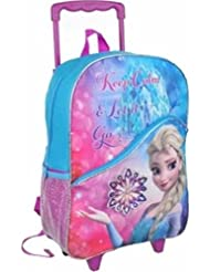 Disney Frozen Large Rolling Backpack 16 Elsa Keep Calm and Let it Go