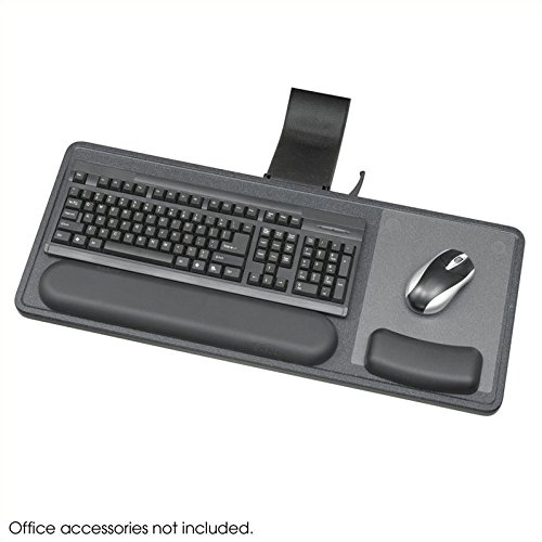 Safco Products 2196 Ergo-Comfort Sit/Stand Articulating Keyboard/Mouse Arm, Granite Fleck