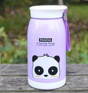 Creado Animal botella de plástico/cable estudiante gran triple taza/botella de dibujos animados