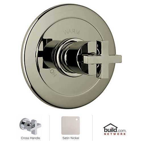 Rohl BA600X-STN Modern Bath Modern Architectural Volume Control Pressure Balance Trim without Diverter Cross Handle, Satin