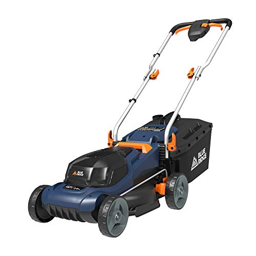 """BLUE RIDGE BR8761U 40V 2.0Ah 14"""" Cordless Lawn Mower Battery and Charger Included"""