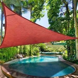 San Diego Shade Sail 18 x18 x18 Triangle Terracotta Rust