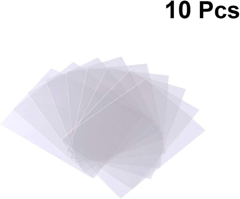 NUOBESTY Lámina de mylar transparente 10 piezas láminas de celofán de película de plástico accesorios para el hogar lámina de plástico tira aislante para escaparate de hogar arte artesanía y envoltura