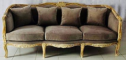 Langrum U0026 Stewart French Country Gray Velvet Sofa
