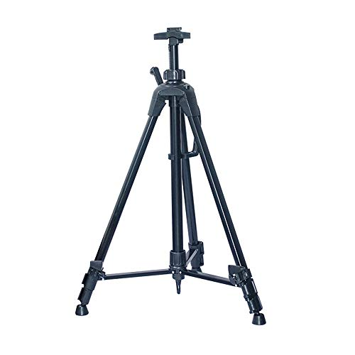 - ZLH Easel-Triangle Bracket Collapsible Telescopic Display Stand Easel Easel Outdoor Portable Sketching Oil Painting Easel (Color : Black)