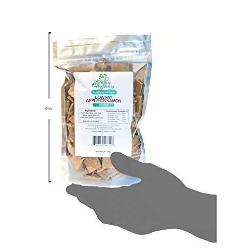 Baltimore Dog Bakery - Apple Cinnamon Low Fat All-Natural Dog Treats, 7oz Resealable Bag, Healthy Dog Training Treats, Dog Biscuits, Healthy Dog Cookies, Hand Made in The USA