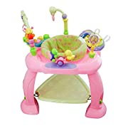 Huile Baby Activity Learning Center Baby Stationary Jumper Bounce Seat Pink
