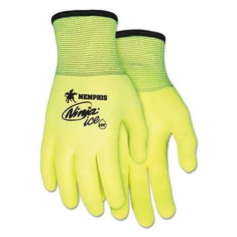Ninja Ice guantes, tamaño mediano, alta VIS verde, 1 docena ...