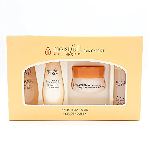 Etude House Moistfull Collagen Skin Care Miniature Kit 4pcs (Etude House Moistfull Collagen Water Jelly Cream)