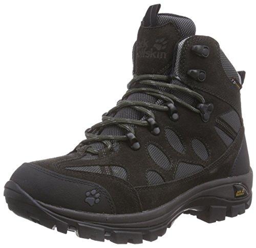 Jack Wolfskin ALL TERRAIN 7 TEXAPORE MID W, Damen Trekking- & Wanderstiefel, Grau (shadow black 6101), 39.5 EU (6 Damen UK)