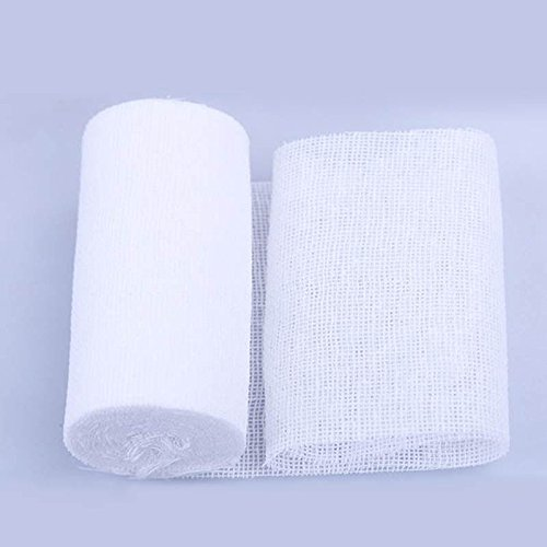 EatingBitiing(R)FDA 20 Rolls 2 inch x 4.92 Yards Stretched Gauze Bandage Rolls with Medical Tape/Rolled Stretch Bandage/Medical Grade Sterile First Aid Wound Care Cotton Ply use Ankles Knees ECT
