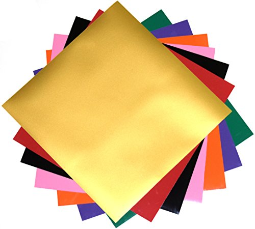 PU flex Heat Transfer Vinyl (HTV) for T Shirts garments bags and other fabrics - 7 Sheets 9.8