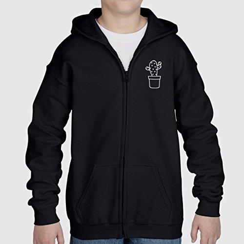 Cactus Cacti Zip Up Pullover Hoodie Hooded Sweater Sweatshirt Jumper Kids Children Girl Boy