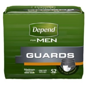 Depend Men Guards Maximum Absorbency 52 CT (Pack of 6)