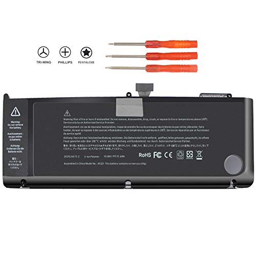 A1321 Laptop Battery for MacBook Pro 15 inch A1286 (mid 2009, mid 2010 Version) MB985 MB986 M1047 Series 661-5211 020-6766-b 77.5WH - 12 Months Warranty