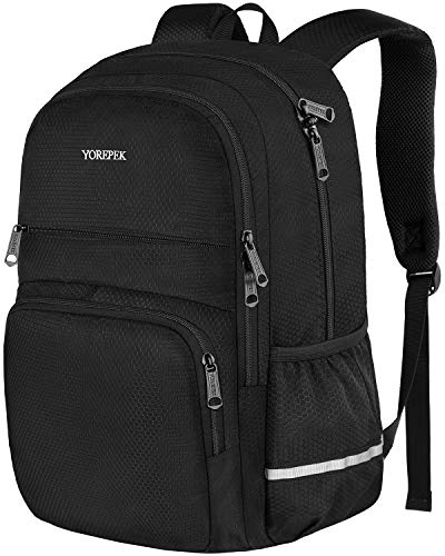 High School Backpack,Lightweight Waterproof School Bookbags for Teen Girls and Boys,Travel Rucksack Casual Daypack for Men Women,Durable College School Bagpack Fits 15.6 Inch Laptops,Black