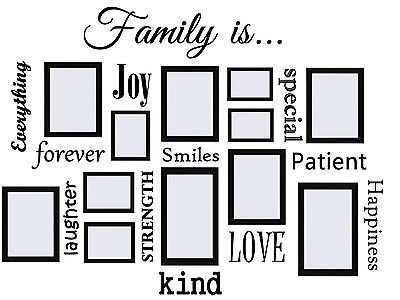 Family Is...Vinyl Wall Quote Decal Works Great with Picture Frames