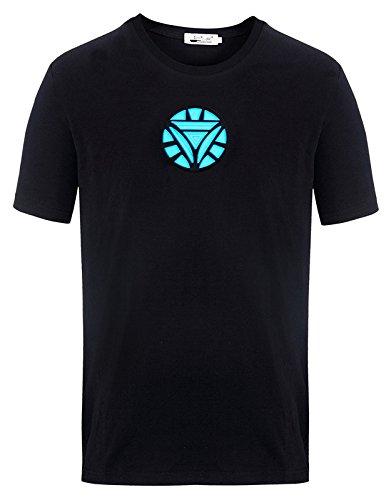 OYMMENEY Men's Sound Activated Light Up Arc Reactor LED T-Shirt]()