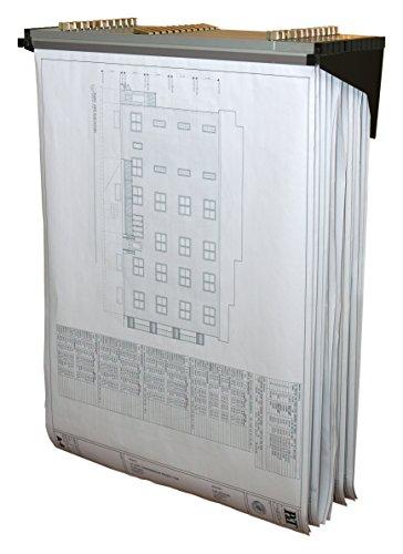 Adir Corp. Drop - Lift Wall Rack for Blueprints - Plans, Black